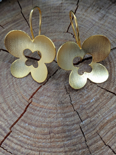 Cutout Butterfly Earrings