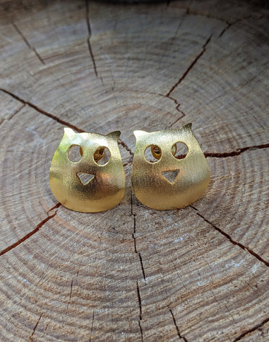 18K Gold Plated Over Copper Creature Earrings