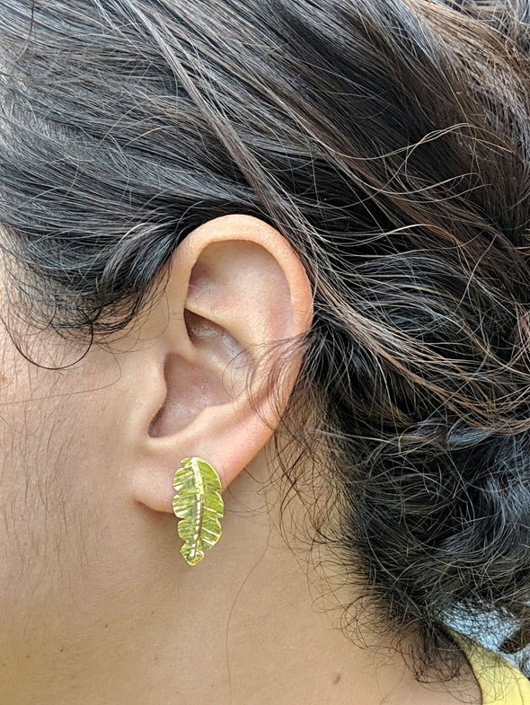 Chic Vibe Tropi Leaf Earrings