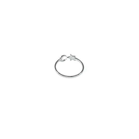 Chic Vibe Moon & Star Stainless Steel Ring