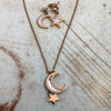 Chic Vibe White Moon and Star Set