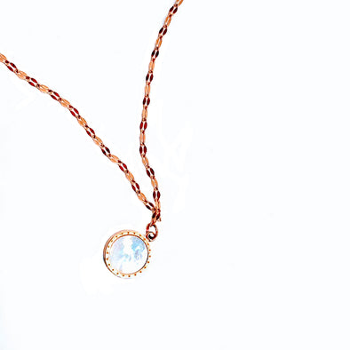 Rose Gold over Stainless Steel AM:PM Necklace