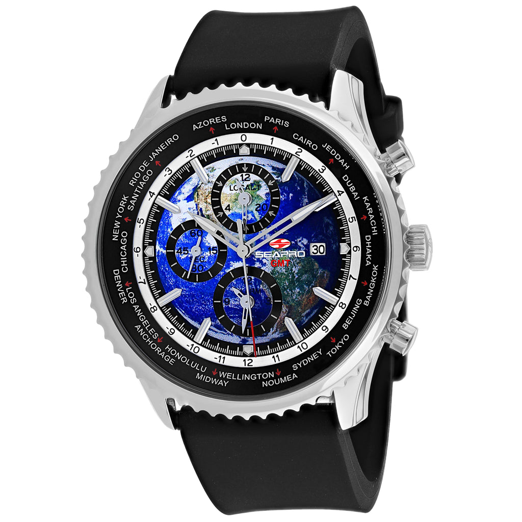 Seapro Men's Meridian World Timer GMT Watch (SP7133R)