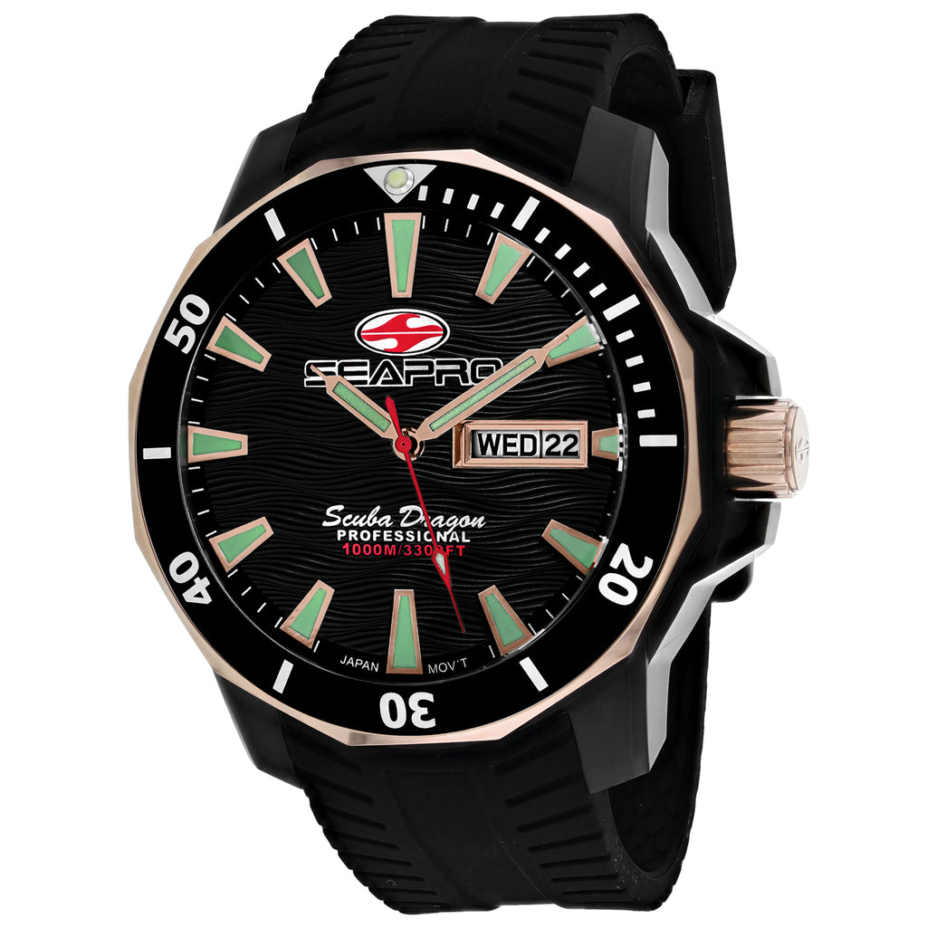 Seapro Men's Scuba Dragon Diver Limited Edition 1000 Meters Watch (SP8320)