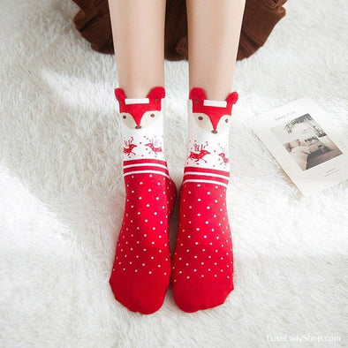 4 Pairs Women Christmas New Year Socks - Socks - Autumn Collection 2019 Free Shipping Luxeladyshop Luxury New - Luxe Lady Shop - Shoes Store