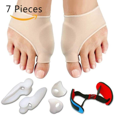 7pcs/set Bunion Sleeves Hallux Valgus Corrector Alignment Toe Separator - Socks - Bunion Corrector, Socks, Toe Separator - Luxe Lady Shop -