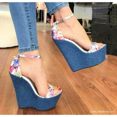 Ainsley - Wedges - Luxeladyshop New Online Shoes Shoes Free Shipping Wedge - Luxe Lady Shop - Shoes Store