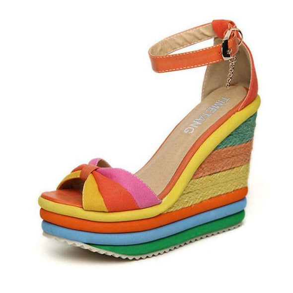 Colorama - Sandals - Luxeladyshop New New In Online Shoes Sandals - Luxe Lady Shop - Shoes Store