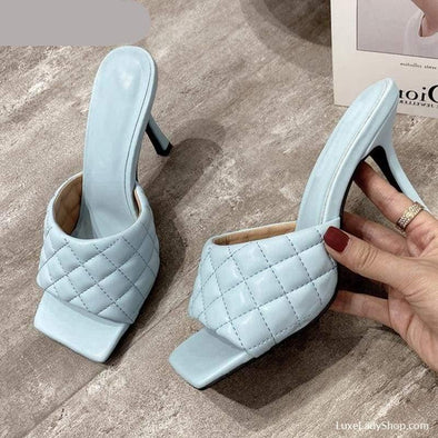 Corelya - Slippers - Heel Sandals Heel Slippers Mules New In - Luxe Lady Shop - Shoes Store