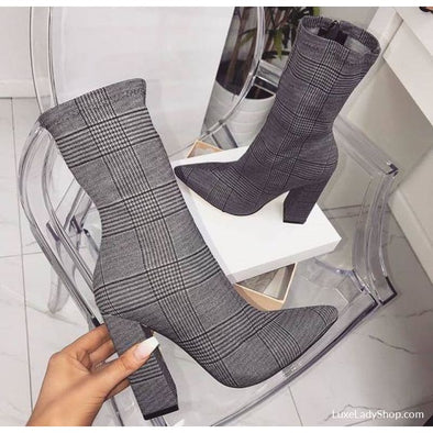 Cube - Boots - Ankle Boots Autumn Booties Boots Heel Boots - Luxe Lady Shop - Shoes Store