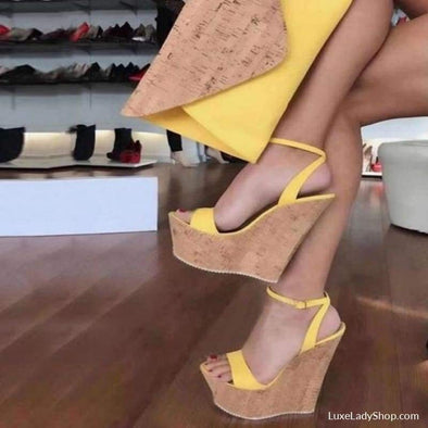 Elba - Wedges - Free Shipping,new,new In,platform,platforms - Luxe Lady Shop - Shoes Store