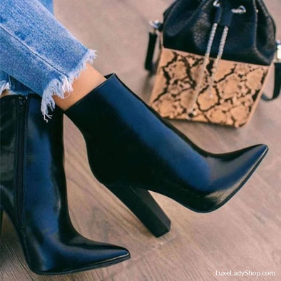 Elly - Boots - Ankle Boots Autumn Collection 2019 Booties Casual Casual Boots - Luxe Lady Shop - Shoes Store