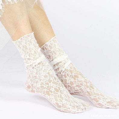 Fashion Women Girls Lace Ankle Loose Socks - Socks - Autumn Collection 2019 Free Shipping Luxeladyshop Luxury New - Luxe Lady Shop - Shoes