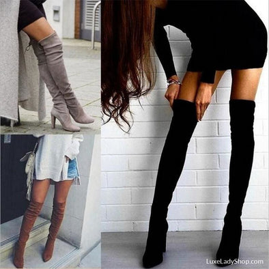 Gianna - Boots - Autumn Collection 2019 Boots Heel Boots Knee Boots Luxeladyshop - Luxe Lady Shop - Shoes Store
