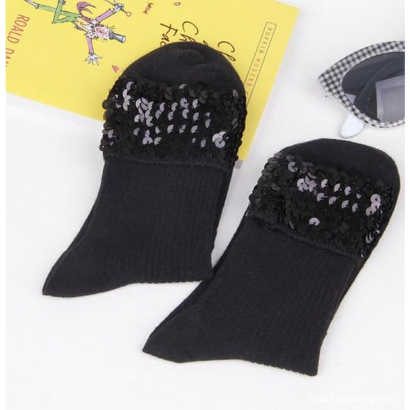 Glitter Women Vintage Cotton Shiny Socks - Autumn Autumn Collection 2019 Free Shipping Luxeladyshop Luxury - Luxe Lady Shop - Shoes Store