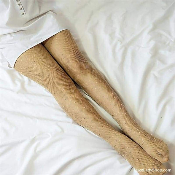 Ingrid - Rhingstone Stockings - Stockings - Best Selling Free Shipping Luxeladyshop Luxury New In - Luxe Lady Shop - Shoes Store