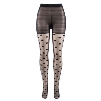 Japan Style Dot Patterned Women Pantyhose Fashion Sweet Girl Black Sexy Tights Female Stockings - Stockings - Autumn Collection 2019 Free