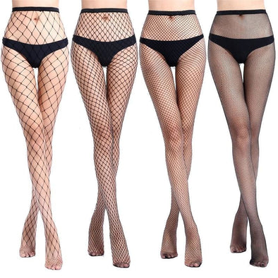 Joy - Black Mesh Stockings - Stockings - Autumn Collection 2019 Casual Free Shipping Luxury New In - Luxe Lady Shop - Shoes Store