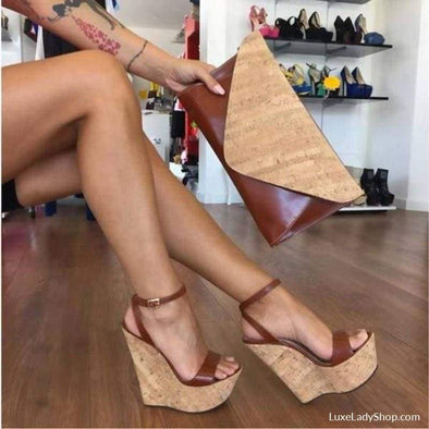 Judith - Wedges - Best Selling Free Shipping Luxeladyshop Luxury New In - Luxe Lady Shop - Shoes Store