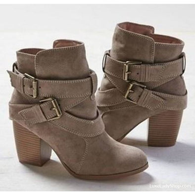 Kinsley - Boots - Ankle Boots Autumn Collection 2019 Boots Heel Boots Luxeladyshop - Luxe Lady Shop - Shoes Store