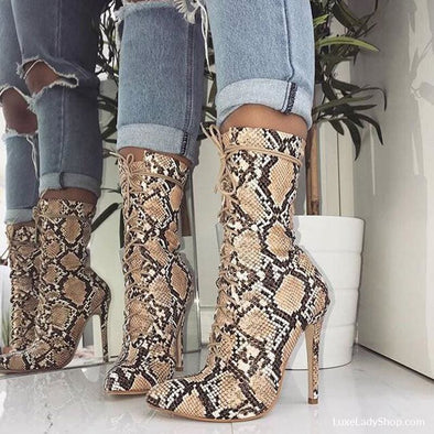 Leilani - Boots - Autumn Collection 2019 Booties Boots Heel Boots Luxeladyshop - Luxe Lady Shop - Shoes Store