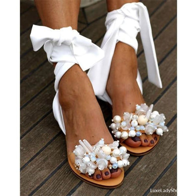 Lesa - Flats - Casual,flat Sandals,flats,flats Sandals,free Shipping - Luxe Lady Shop - Shoes Store