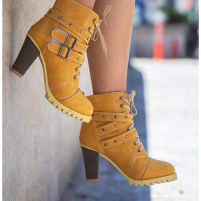 Loly - Boots - Ankle Boots Autumn Collection 2019 Booties Boots Heel Boots - Luxe Lady Shop - Shoes Store