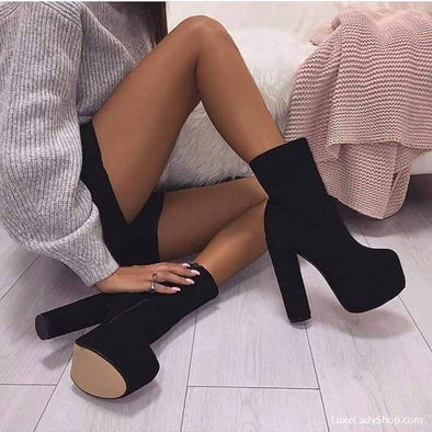 Morazora - Boots - Ankle Boots Autumn Collection 2019 Booties Boots Heel Boots - Luxe Lady Shop - Shoes Store