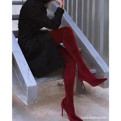 Morgan - Boots - Autumn Collection 2019 Boots Free Shipping Knee Boots New - Luxe Lady Shop - Shoes Store