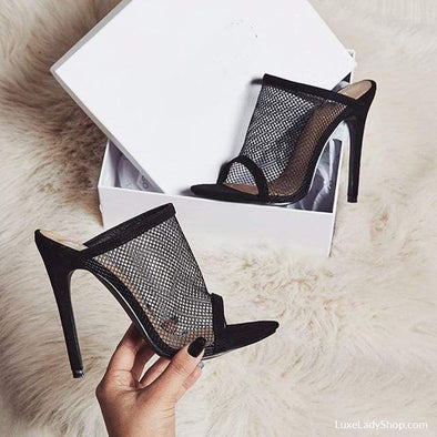 Mule - Sandals - Free Shipping Heel Sandals Luxeladyshop Luxury New In - Luxe Lady Shop - Shoes Store
