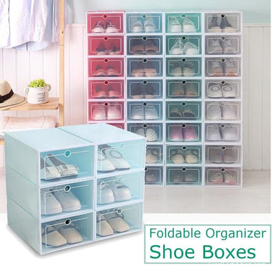 Multifunction Plastic Shoe Boxes 3 Or 6 Pcs - Organizer - Autumn Collection 2019 Best Selling Gadgets Luxeladyshop Online Shoes - Luxe Lady