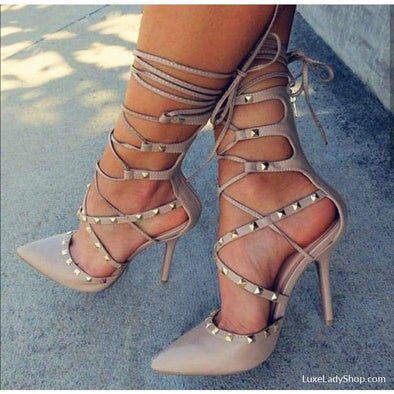Romana - Sandals - Heel Sandals, New, new In, Sandals, Stiletto - Luxe Lady Shop - Shoes Store