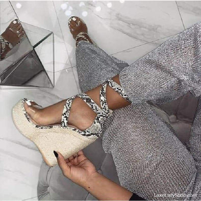 Serpentine - Wedges - Free Shipping Luxeladyshop Luxury New Online Shoes - Luxe Lady Shop - Shoes Store