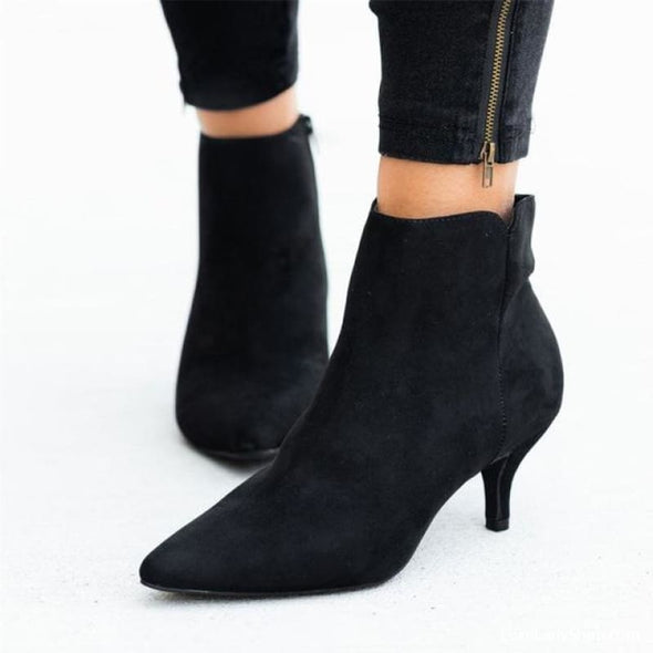 Shelly - Boots - Ankle Boots Autumn Collection 2019 Booties Free Shipping Heel Boots - Luxe Lady Shop - Shoes Store
