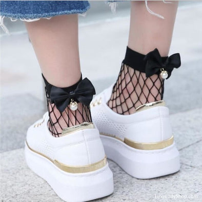 Spring and Summer Short Trend Mesh Socks - Socks - New, new In, Socks - Luxe Lady Shop - Shoes Store