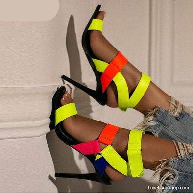 Stacey - Sandals - Free Shipping,gladiator,heel Sandals,heels,new - Luxe Lady Shop - Shoes Store