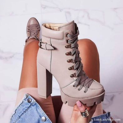 Tabby - Boots - Ankle Boots Autumn Collection 2019 Booties Boots Free Shipping - Luxe Lady Shop - Shoes Store
