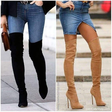 Trinity - Boots - Autumn Collection 2019 Boots Heel Boots Knee Boots Luxeladyshop - Luxe Lady Shop - Shoes Store