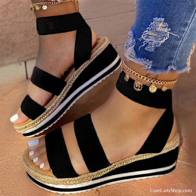 Vicki - Sandals - Flat Sandals, New, new In, Wedge - Luxe Lady Shop - Shoes Store