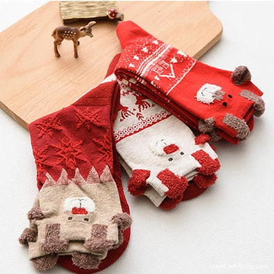 Warm Christmas Gifts Soft Socks - Socks - Free Shipping New In Socks - Luxe Lady Shop - Shoes Store