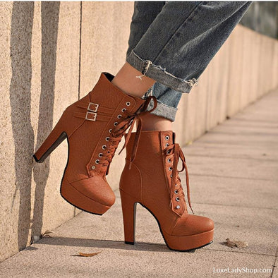 Zoe - Boots - Ankle Boots Autumn Collection 2019 Best Selling Booties Heel Boots - Luxe Lady Shop - Shoes Store
