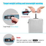 Letsfit Digital Luggage Scale, 110lbs Hanging Baggage Scale with Backlit LCD Display, Portable Suitcase Weighing Scale, Travel Luggage Weight Scale with Hook, Strong Straps for Travelers