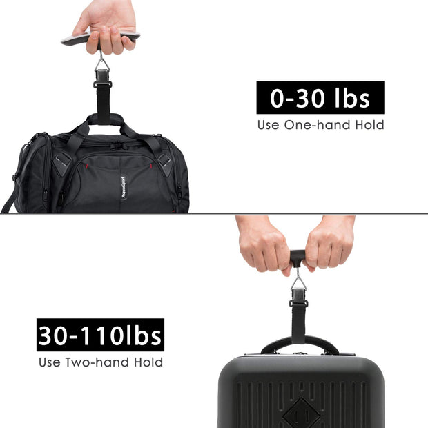 Digital Luggage Scale Gift for Traveler Suitcase Handheld Weight Scale 110lbs