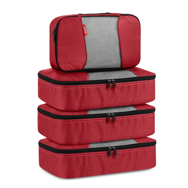 Travel Packing Cubes, Gonex Luggage Organizers 3 Medium+1 Small Red