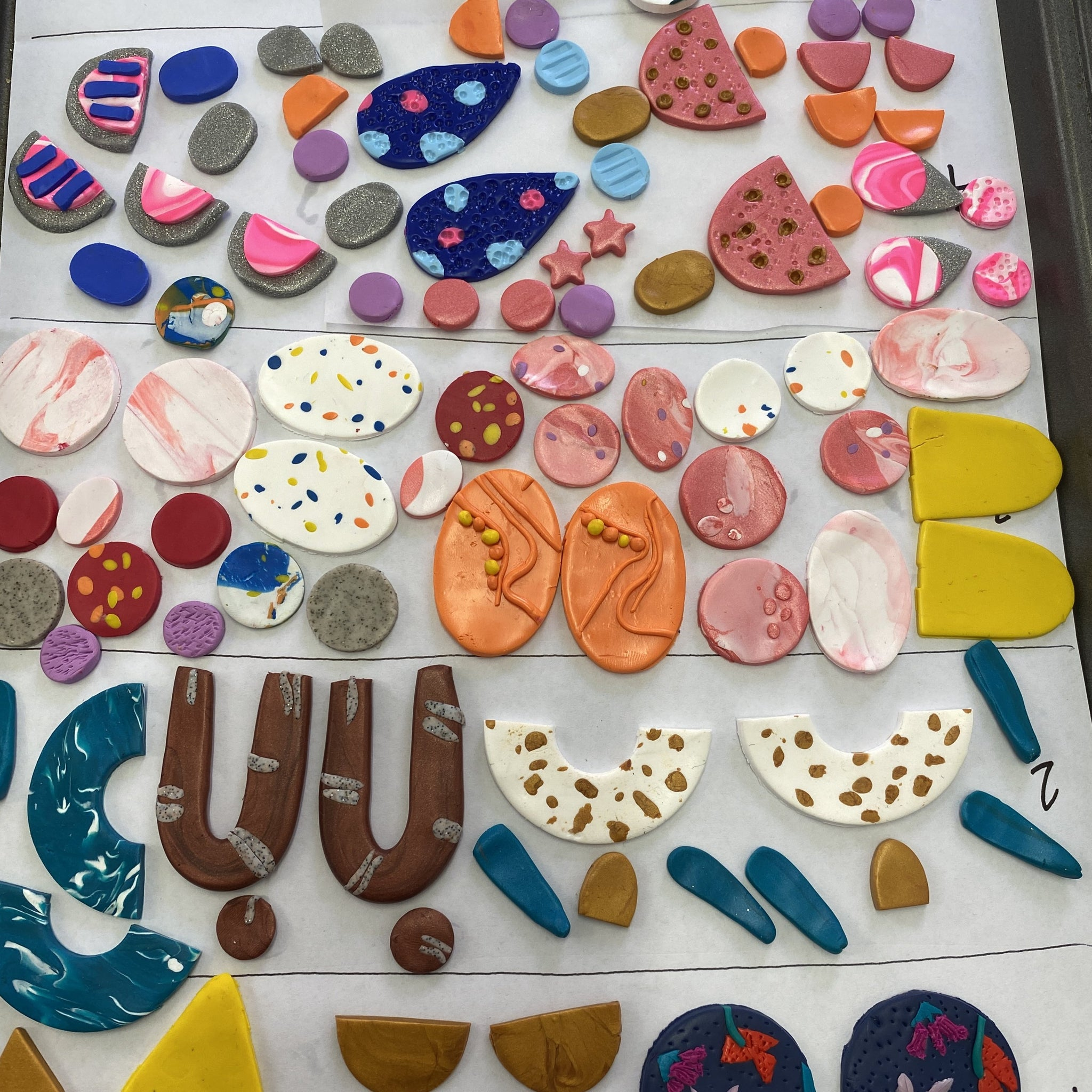 Polymer Clay Earring Workshop - Saturday 12th June 2021