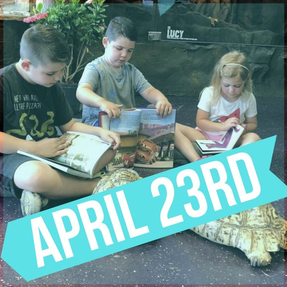 READING TO REPTILES AT THE REPTARIUM - APRIL 23RD