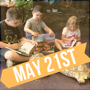 READING TO REPTILES AT THE REPTARIUM - MAY 21ST