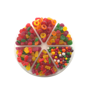 Medium 6 Section Tray, Candy