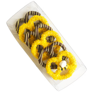 Small Pretzel Box with Bee Topper