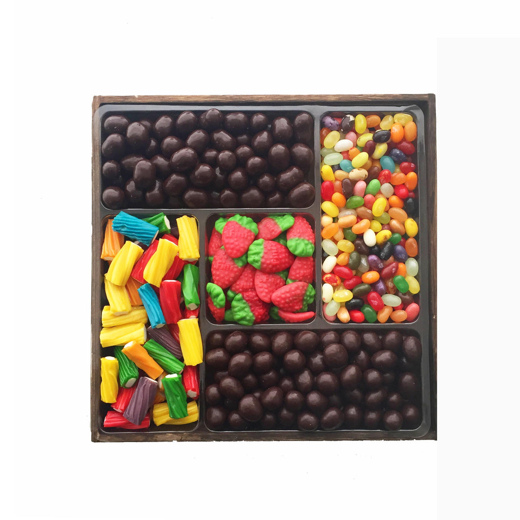 Chocolate and Candy Platter, Medium Wooden Tray